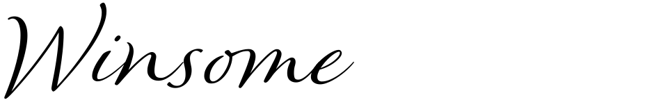 Click to view  Winsome font, character set and sample text