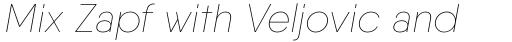 Qanelas Soft Thin Italic sample