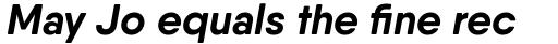 Qanelas Soft Bold Italic sample