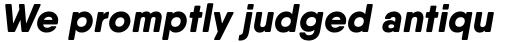 Qanelas Soft Extra Bold Italic sample