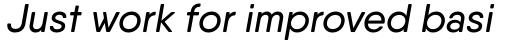 Qanelas Soft Medium Italic sample