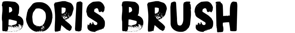 Click to view  Boris Brush font, character set and sample text