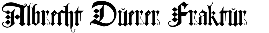 Click to view  Albrecht Duerer Fraktur Pro font, character set and sample text