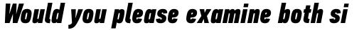PF DIN Text Comp Std Black Italic sample