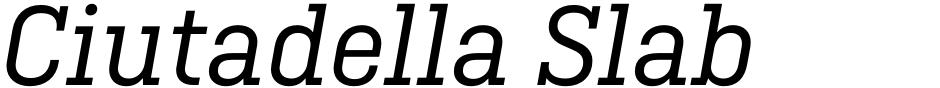Click to view  Ciutadella Slab font, character set and sample text