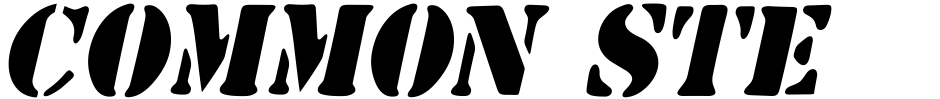 Click to view  Common Stencil JNL font, character set and sample text