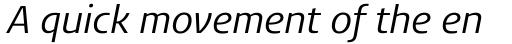 FF Aad Pro Regular Italic sample