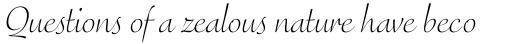 FF Eggo Pro Light Italic sample