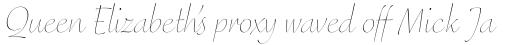 FF Eggo Pro Thin Italic sample