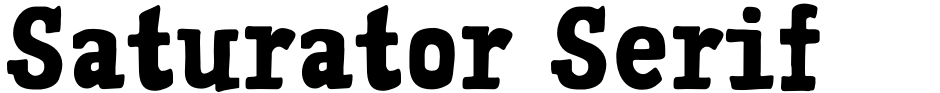 Click to view  Saturator Serif FA font, character set and sample text