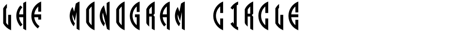 Click to view  LHF Monogram Circle font, character set and sample text