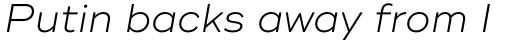 Ridley Grotesk Light Italic sample