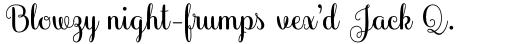 Culinary Script Bold sample