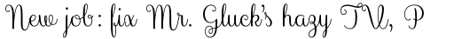 Culinary Script Regular sample