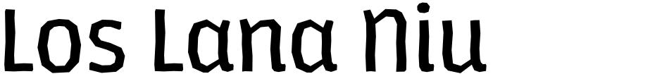 Click to view  Los Lana Niu font, character set and sample text