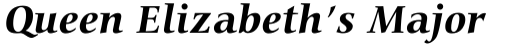 Carmina BT Std Bold Italic sample