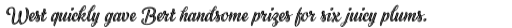Black Script Inline sample