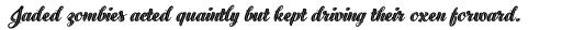 Black Script Inline Bold sample