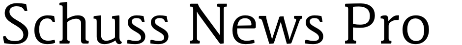 Click to view  Schuss News Pro font, character set and sample text