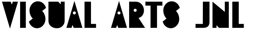 Click to view  Visual Arts JNL font, character set and sample text