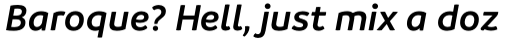 Branding SemiBold Italic sample