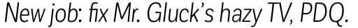 Corporative Sans Round Condensed Book Italic sample