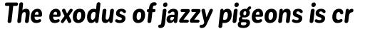 Corporative Sans Round Condensed Bold Italic sample