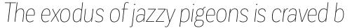 Corporative Sans Round Condensed Hair Italic sample