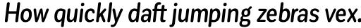 Corporative Sans Round Condensed Medium Italic sample
