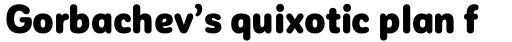 Corporative Sans Round Condensed Alt Black sample