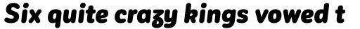 Corporative Sans Round Condensed Alt Black Italic sample