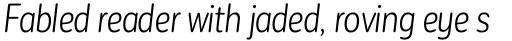Corporative Sans Round Condensed Alt Book Italic sample
