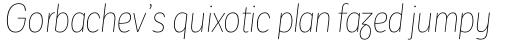 Corporative Sans Round Condensed Alt Hair Italic sample