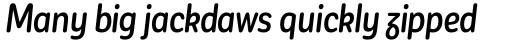 Corporative Sans Round Condensed Alt Medium Italic sample