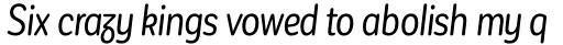 Corporative Sans Round Condensed Alt Italic sample