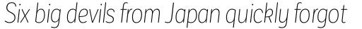 Corporative Sans Round Condensed Alt Thin Italic sample