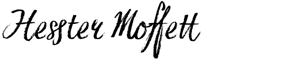 Click to view  Hesster Moffett font, character set and sample text