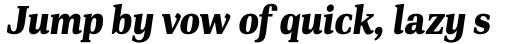 PF DIN Serif Black Italic sample
