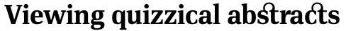 PF DIN Serif Bold sample