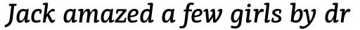 PF Centro Slab Press Medium Italic sample