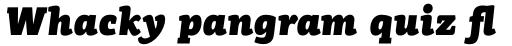 PF Centro Slab Press UBlack Italic sample