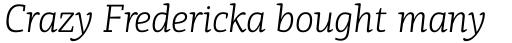 PF Centro Slab Press Light Italic sample