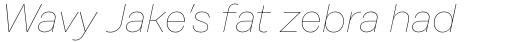 Rational Display Hairline Italic sample