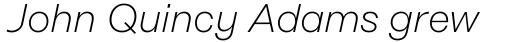 Rational Text ExtraLight Italic sample