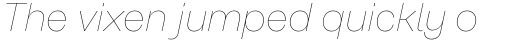 Rational Text Hairline Italic sample