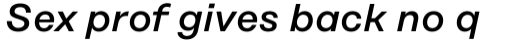 Rational Text Medium Italic sample