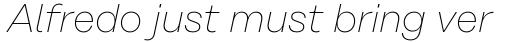 Rational Text Thin Italic sample