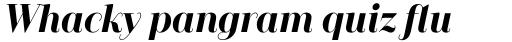 Camila Bold Italic sample