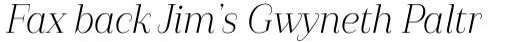Camila Regular Italic sample
