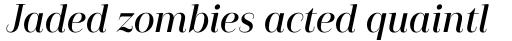 Camila Semibold Italic sample